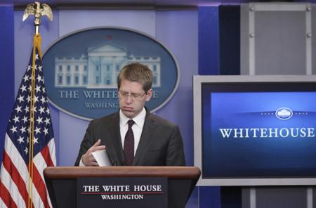 White House Press Secretary Jay Carney fed up frustrated