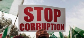 pakistan stop corruption sign