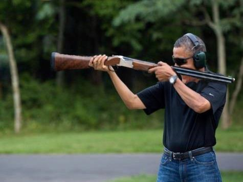 obama skeet backwards