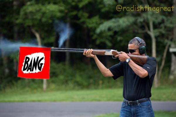 obama skeet bang flag