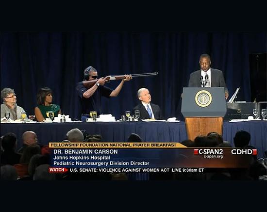 obama skeet shooting dr ben carson