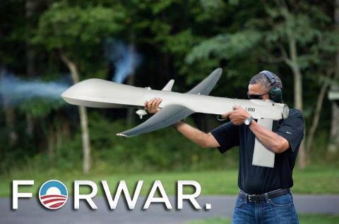 obama skeet drone