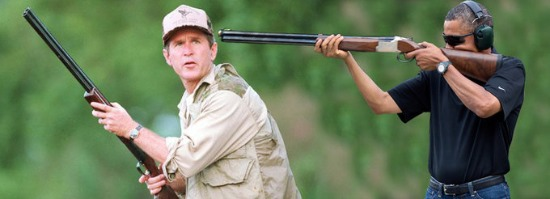 obama skeet shooting george w bush