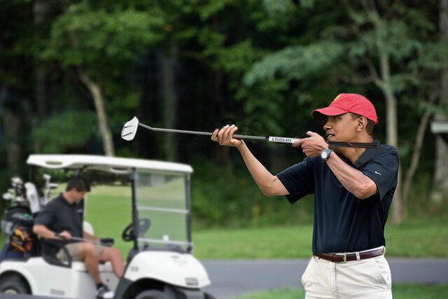 obama skeet golf