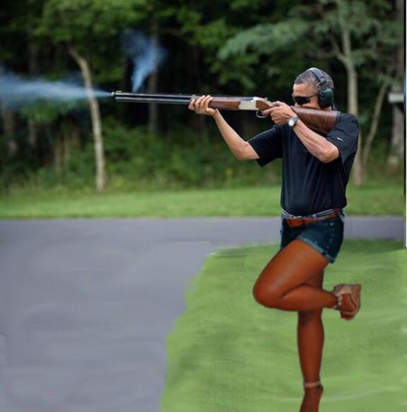 obama skeet lady legs
