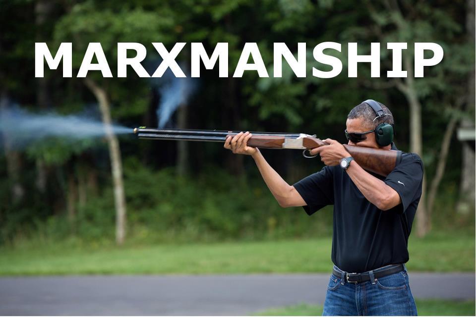 obama skeet marxmanship