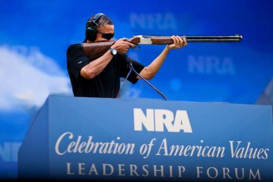 obama skeet shooting nra speech