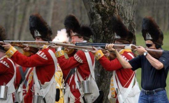 obama skeet shooting redcoats
