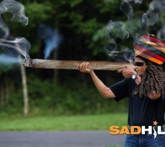 obama skeet shooting smoking ganja weed blunt rastafarian