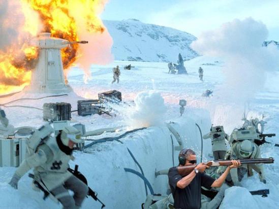 obama skeet shooting star wars empire strikes back ice hoth