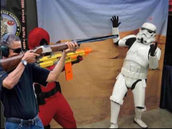 obama skeet shooting star wars storm trooper