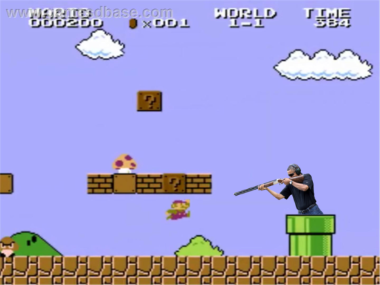 obama skeet shooting super mario brothers