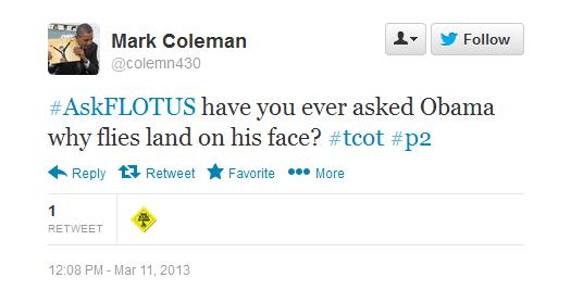 #AskFLOTUS First Lady Michelle Obama tweet