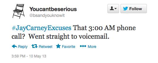 #JayCarneyExcuses