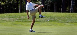 President Obama Golf Pose Leg Lift Martha's Vineyard Original