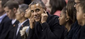 President Obama Booed at College Basketball Game? Covering His Ears Photoshop