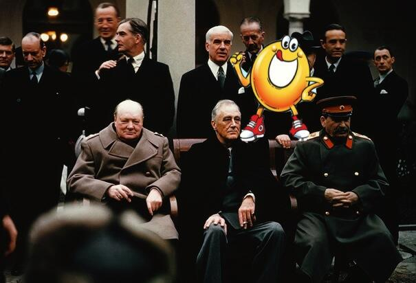 Spaghettios Pearl Harbor Tweet Yalta Conference Joseph Stalin Winston Churchill FDR Franklin D Roosevelt Delano Crimea December 7, 2013 Twitter tweet Campbell Soup Company Campbell's offensive tasteless dubious bad taste poor public outcry people upset furious enraged outrage apologizes apology pulls brand Internet