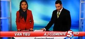 A.J. Clemente News Blooper 2013 on-air cursing curse cuss foul language fucking shit mistake nervous nerves KFYR-TV Bismarck North Dakota TV station Van Tieu