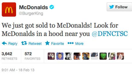 Burger King McDonald's Twitter Hack Sold Hood