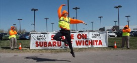Subaru of Wichita dance video The More You Try to Shame Us, the More That We Get Famous funny YouTube dance video mock mocking union protest workers labor dispute making poking fun carpenter local 201 Shame on Subaru of Wichita hip-hop rap dubstep drops Google Glass