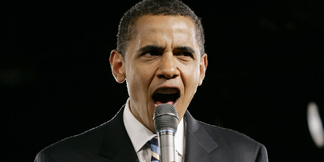 """""""Obama Is So Mad"""" RNC Posts Video Showing President Obama """"is madder than hell"""" outrage rage anger angry frustrated fuming livid screaming microphone fake manufactured talking point"""