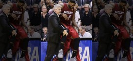 #Lebroning Twitter hashtag Lebron James carried off court meme tweets tweeted Instagram Internet Photoshop Photoshopped pictures pics people holding other wince wincing in pain hurt pained look face Miami Heat San Antonio Spurs Game 1 One NBA Finals muscle cramps no A.C. AC hot air conditioning went out unit broke AT&T Center 4th fourth quarter leg