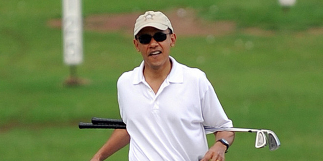 20 Hilarious Obama Golf Pics Memes In Honor of The President's 200th Golf Game hilarious Obama golf pic pics picture pictures image images President funny political humor humorous satire satirical hysterical awesome lol lolz meme memes golfing golf course hole holes club golf clubs swing 200 rounds 200th round