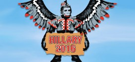Hillary Clinton Flying Monkey Flying Monkeys street poster street posters Hillary 2016 Sabo Los Angeles L.A. LA anonymous conservative street artist subversive controversial provocative guerrilla marketing campaign political politics Democrat Democrats Democratic fundraiser Tavern restaurant Brentwood area UnsavoryAgents website unsavoryagents.com signs signage plastered traffic signal boxes