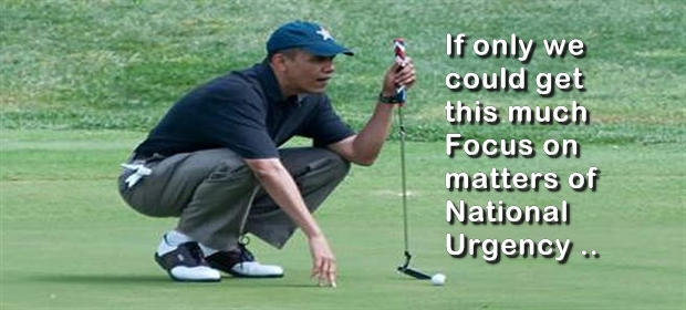 hilarious Obama golf pic pics picture pictures image images President funny political humor humorous satire satirical hysterical awesome lol lolz meme memes golfing golf course hole holes club golf clubs swing 200 rounds 200th round Obama Golf Meme If Only We Could Get This Much Focus on Matters of National Urgency
