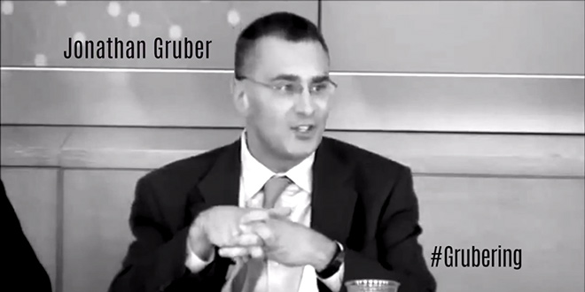 """#Grubering RNC GOP Republican National Committee party video hammers slams blasts Democrats Dems over Jonathan Gruber remarks comments """"Stupidity of the American people"""" Obamacare architect hashtag"""