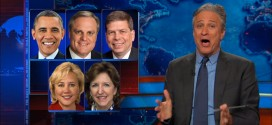 Jon Stewart The Daily Show unloads on Democrats President Obama Dems Explodes Slams Harshly Criticizes Rebukes Skewers calls them chickenshit pussies Pussycrats immigration reform Congress Senate midterm elections Keystone pipeline oil energy Mark Pryor Mary Landrieu Mark Begich Kay Hagan lost seats Republicans GOP won landslide victory