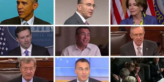 Grubergate video compilation montage edit Jonathan Gruber charade continues lies deception pass Obamacare architect President Obama House Minority Leader Speaker Nancy Pelosi White House Press Secretary Josh Earnest