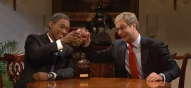 SNL Saturday Night Live mocks meeting between President Obama and Mitch McConnell bourbon summit host Woody Harrelson November 15, 2014 funny sketch skit White House