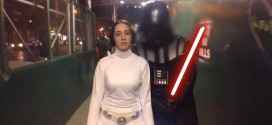 Ten Hours of Princess Leia Walking in NYC Star Wars parody video parodies videos funny humorous hilarious Yoda Darth Vader lightsaber Luke Skywalker Han Solo Indiana Jones Lando Calrissian Jawas Boba Fett street harassment crime women female