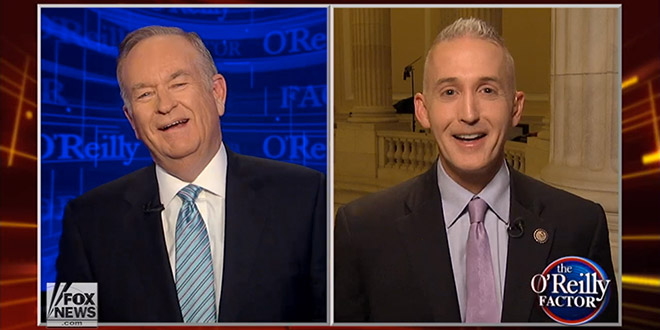 """Trey Gowdy Bill O'Reilly Fox News Impeach Impeaching President Obama """"Have you met Joe Biden?"""" Rep South Carolina House Judiciary Committee Subcommittee on Immigration and Border Security The Factor No-Spin Zone"""