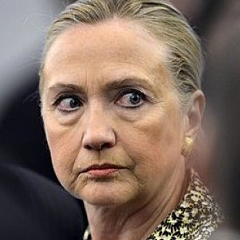 Hillary Clinton angry mad upset glaring staring daggars death glare stare witch you mad bro